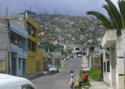 Alluvium control in gulch, Quito – Ecuador